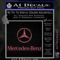 Mercedes Benz Logo Intricate Decal Sticker Pink Emblem 120x120
