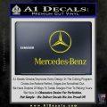 Mercedes Benz Logo Intricate Decal Sticker Yellow Laptop 120x120