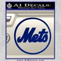 Mets Circle Decal Sticker DC Blue Vinyl 120x120
