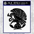 Mexico City Emblem Coat Of Arms Decal Sticker Eagle Black Vinyl 120x120