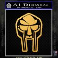 Mf Doom Mask D2 Decal Sticker Gold Vinyl 120x120