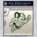 Mighty Mouse Decal Sticker Classic Dark Green Vinyl 120x120