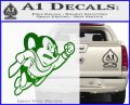 Mighty Mouse Decal Sticker Classic Green Vinyl Logo 120x97