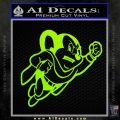Mighty Mouse Decal Sticker Classic Lime Green Vinyl 120x120