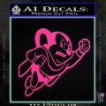 Mighty Mouse Decal Sticker Classic Pink Hot Vinyl 120x120