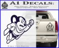 Mighty Mouse Decal Sticker Classic PurpleEmblem Logo 120x97