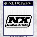 NOS Nitrous Express Decal Sticker Black Vinyl 120x120