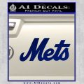 NY Mets Decal Sticker TXT Blue Vinyl 120x120