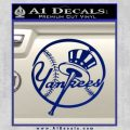 NY Yankess Bat Hat Decal Sticker Blue Vinyl 120x120