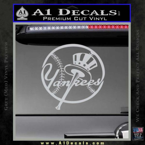 NY Yankess Bat Hat Decal Sticker » A1 Decals