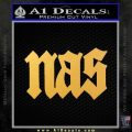 Nas Rapper Script D1 Decal Sticker Gold Vinyl 120x120