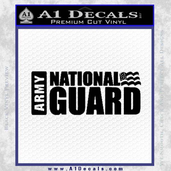 National Guard Decal Sticker Wide Black Vinyl