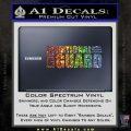 National Guard Decal Sticker Wide Glitter Sparkle 120x120