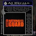 National Guard Decal Sticker Wide Orange Emblem 120x120