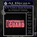 National Guard Decal Sticker Wide Pink Emblem 120x120