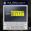 National Guard Decal Sticker Wide Yellow Laptop 120x120