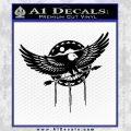 Native American Eagle Decal Sticker Black Vinyl 120x120
