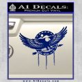 Native American Eagle Decal Sticker Blue Vinyl 120x120
