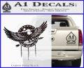 Native American Eagle Decal Sticker Carbon FIber Black Vinyl 120x97