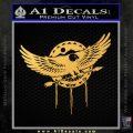 Native American Eagle Decal Sticker Gold Vinyl 120x120