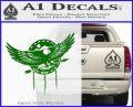 Native American Eagle Decal Sticker Green Vinyl Logo 120x97