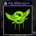 Native American Eagle Decal Sticker Lime Green Vinyl 120x120