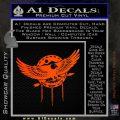 Native American Eagle Decal Sticker Orange Emblem 120x120