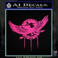 Native American Eagle Decal Sticker Pink Hot Vinyl 120x120
