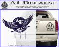 Native American Eagle Decal Sticker PurpleEmblem Logo 120x97