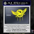 Native American Eagle Decal Sticker Yellow Laptop 120x120