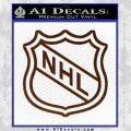 Nhl Shield D2 Decal Sticker BROWN Vinyl 120x120