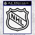 Nhl Shield D2 Decal Sticker Black Vinyl 120x120