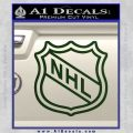 Nhl Shield D2 Decal Sticker Dark Green Vinyl 120x120