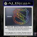 Nhl Shield D2 Decal Sticker Glitter Sparkle 120x120