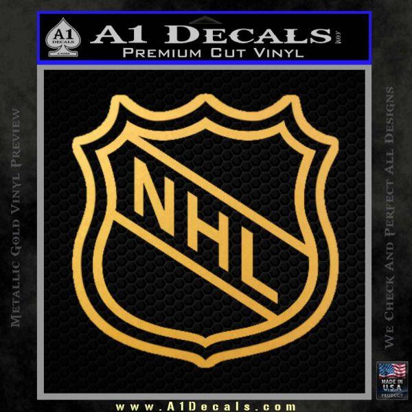 Nhl Shield D2 Decal Sticker Gold Vinyl