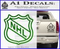 Nhl Shield D2 Decal Sticker Green Vinyl Logo 120x97