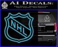Nhl Shield D2 Decal Sticker Light Blue Vinyl 120x97