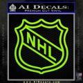 Nhl Shield D2 Decal Sticker Lime Green Vinyl 120x120