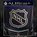 Nhl Shield D2 Decal Sticker Metallic Silver Emblem 120x120