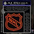 Nhl Shield D2 Decal Sticker Orange Emblem 120x120