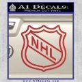 Nhl Shield D2 Decal Sticker Red 120x120