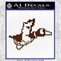 Nintendo Duck Hunt Decal Sticker BROWN Vinyl 120x120