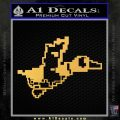 Nintendo Duck Hunt Decal Sticker Gold Vinyl 120x120