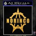 Norinco Firearms Decal Sticker D1 Gold Vinyl 120x120