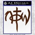 Not Of This World DS Decal Sticker BROWN Vinyl 120x120