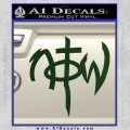 Not Of This World DS Decal Sticker Dark Green Vinyl 120x120