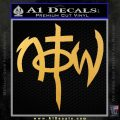 Not Of This World DS Decal Sticker Gold Vinyl 120x120
