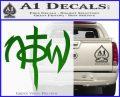 Not Of This World DS Decal Sticker Green Vinyl Logo 120x97