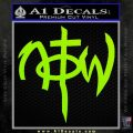 Not Of This World DS Decal Sticker Lime Green Vinyl 120x120