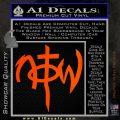 Not Of This World DS Decal Sticker Orange Emblem 120x120